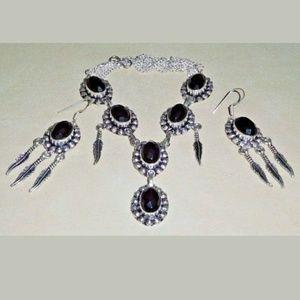 Jewelry - Artisan Black Onyx 925ss Necklace & Earrings Set